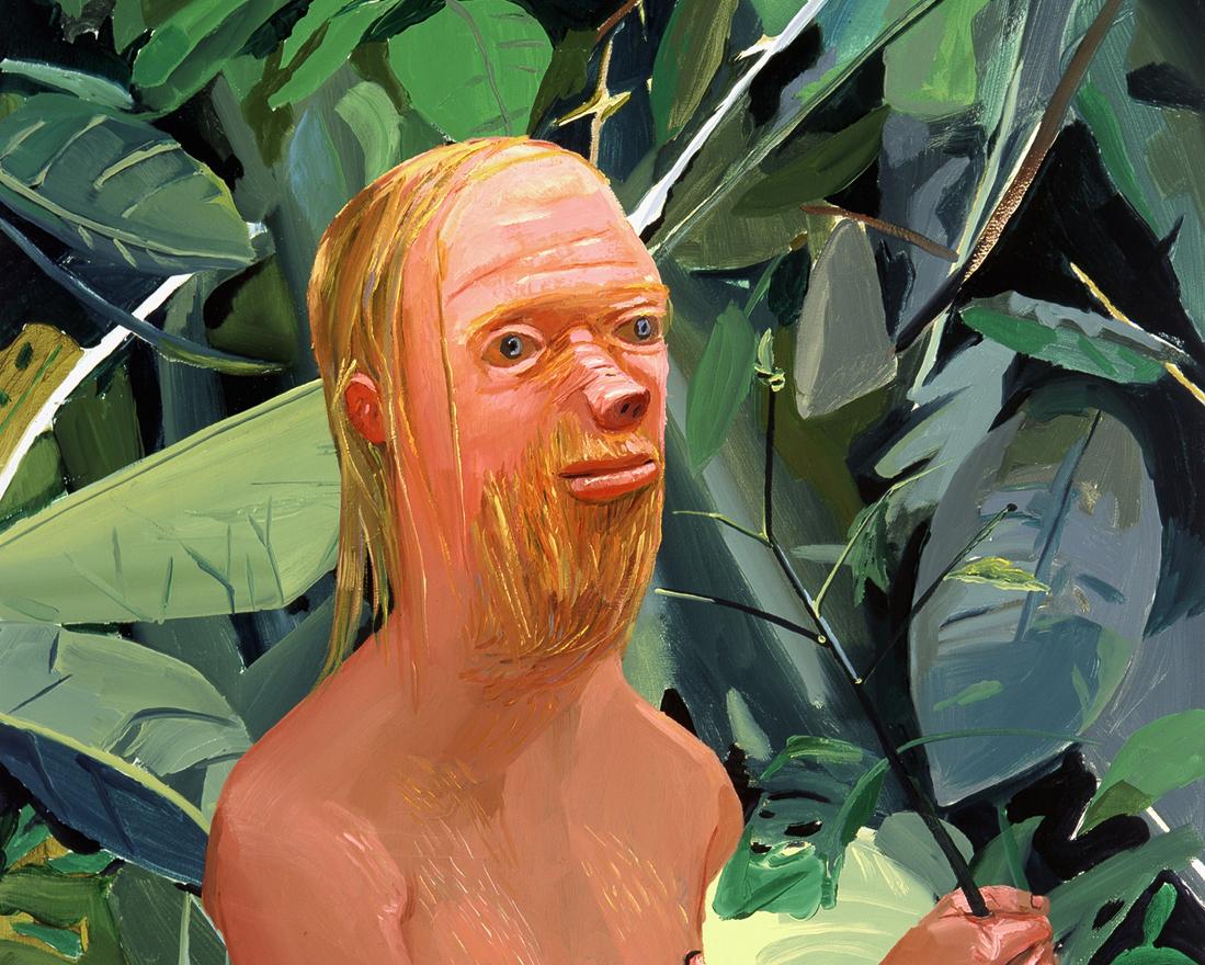 "Dana Schutz, Frank as a Proboscis Monkey, cropped, 2002, 36"" x 32""."