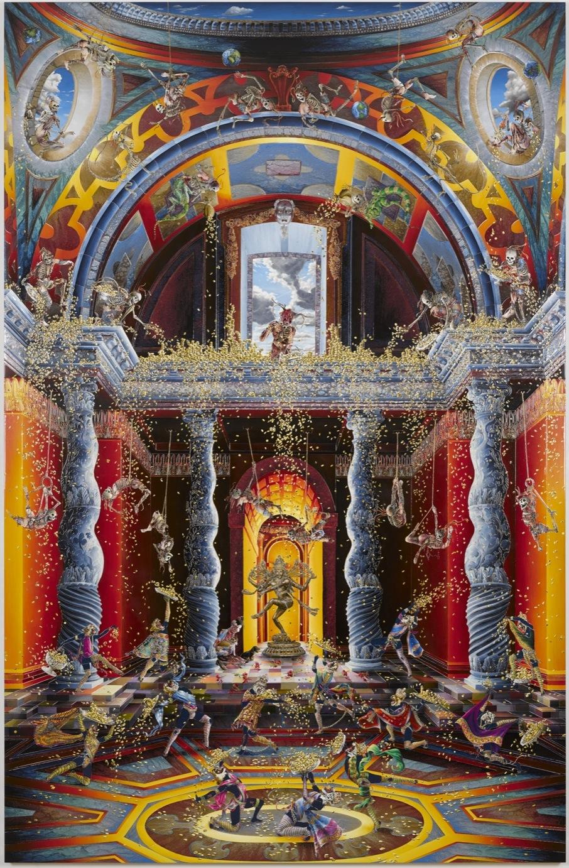 Raqib Shaw The Purification of the Temple (After Venusti) II 2014-2015 (medium res) 1