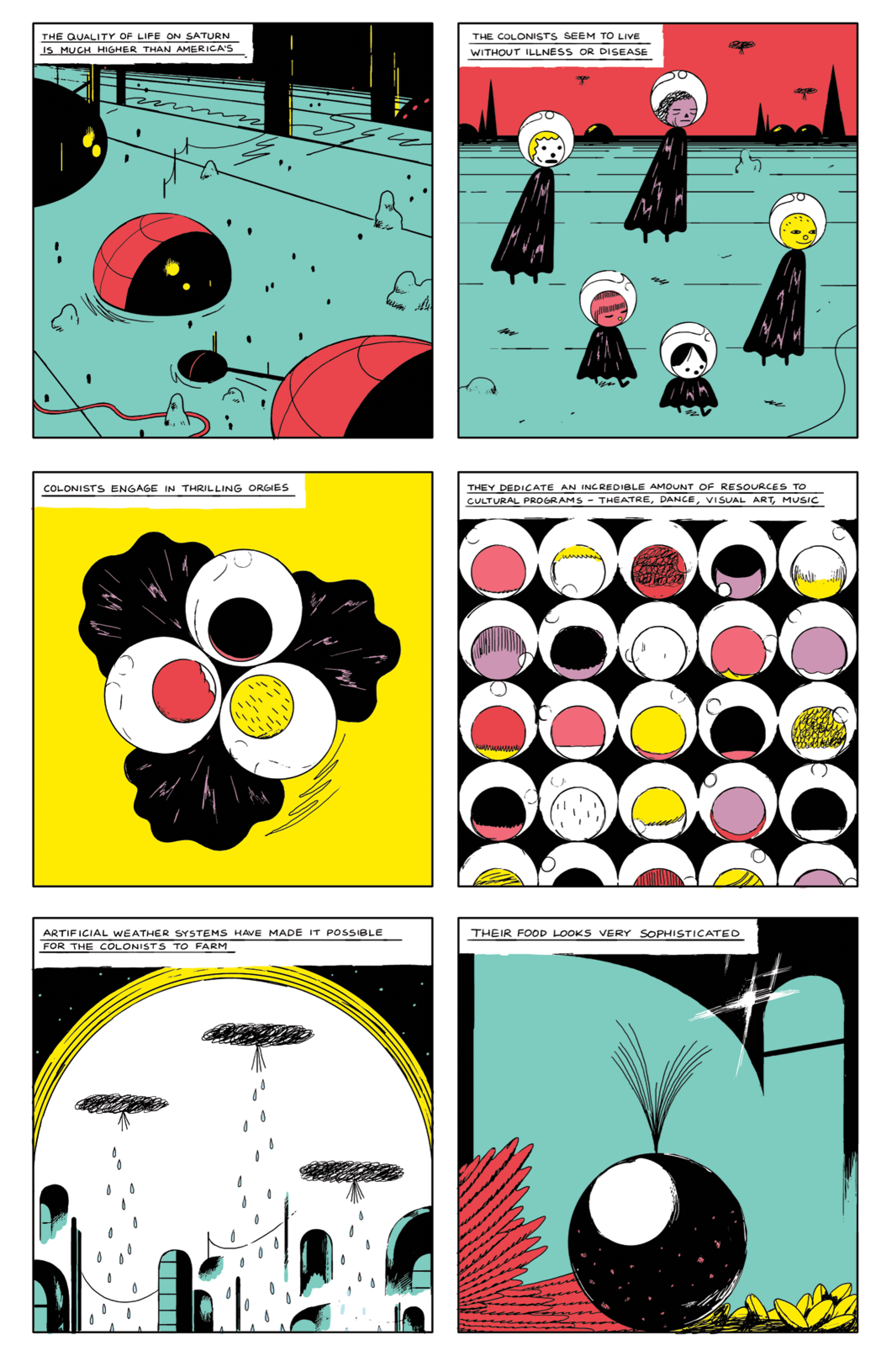 """From Michael Deforge's """"Mostly Saturn,"""" in issue #8."""
