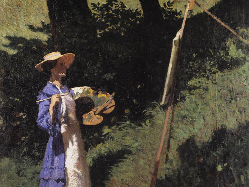 Károly Ferenczy, The Woman Painter, oil on canvas, 53.5 in x 51 in, 1903.