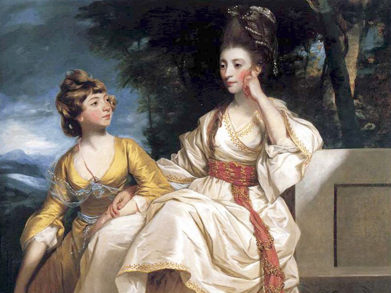 Sir Joshua Reynolds, Hester and Queeney Thrale, 1777–1778.