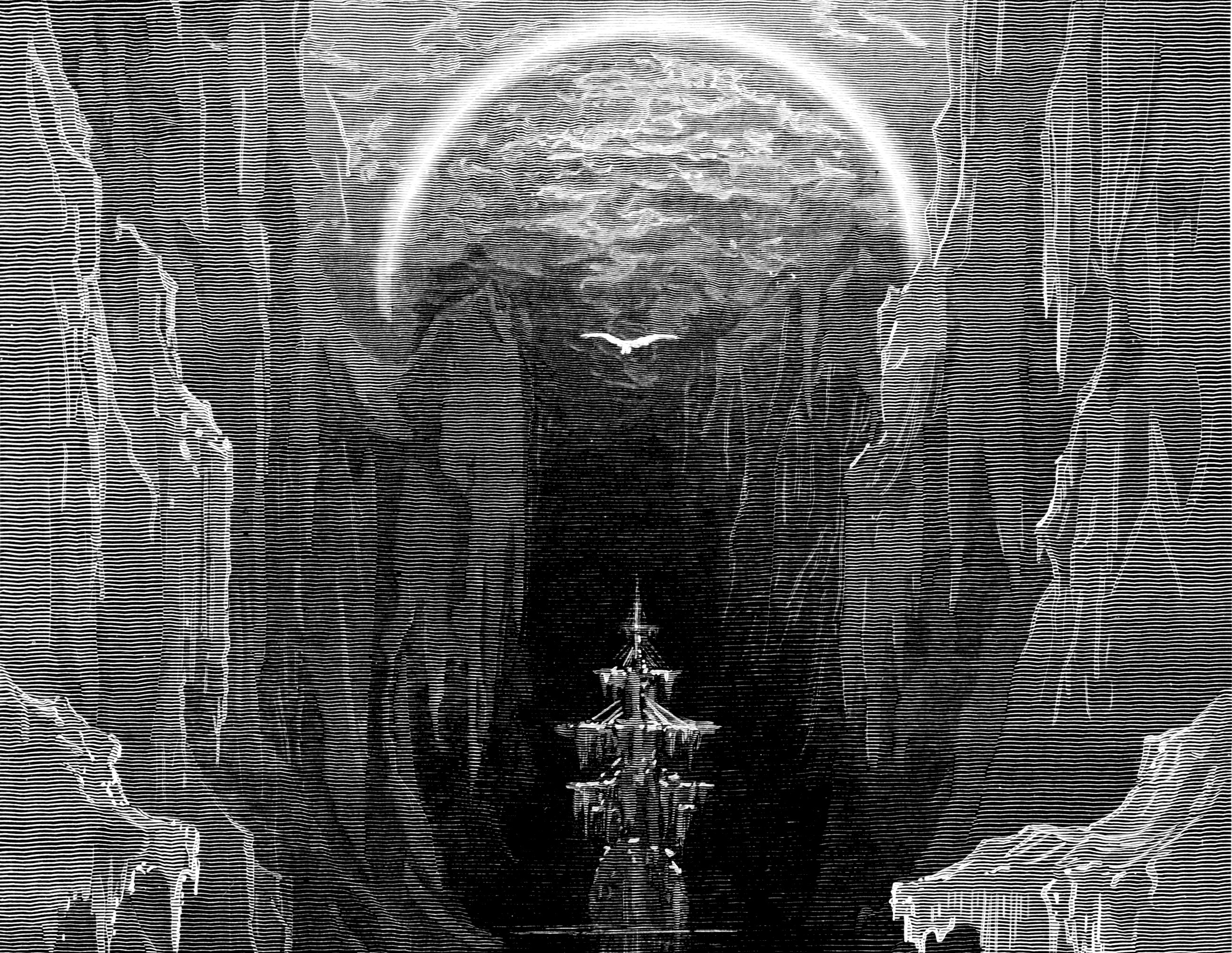 the rime of the ancient mariner See in text (the rime of the ancient mariner in seven parts) coleridge uses a literary device called situational irony in this stanza the irony is that the ship is surrounded by water, but the sailors cannot drink the saltwater.