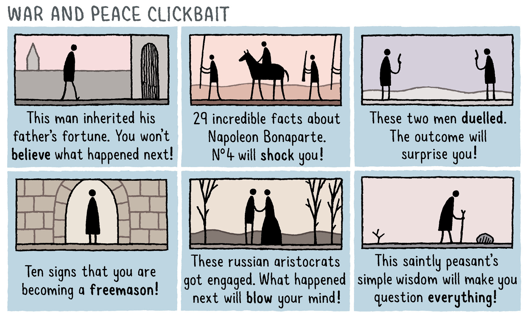 War And Peace Clickbait