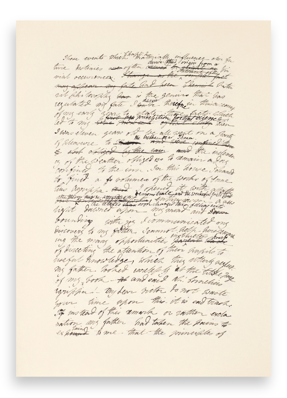 Excerpted From The Beginning Pages Of A New Deluxe Limited Edition Slip Case Version Handwritten Manuscript Mary Shelleys Frankenstein