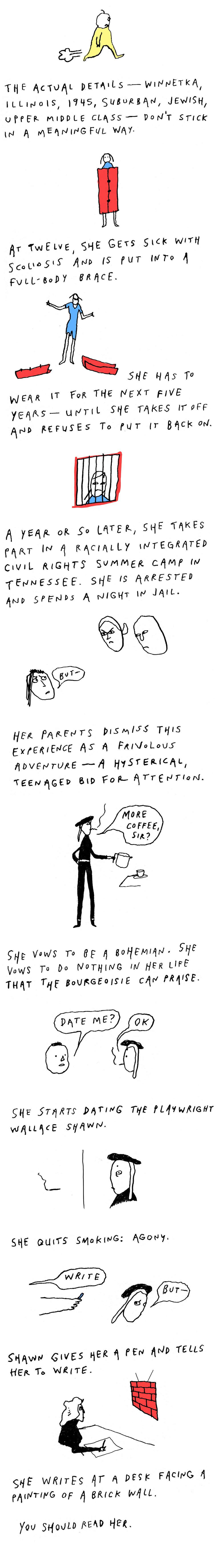 Deborah Eisenberg's Life in Comics