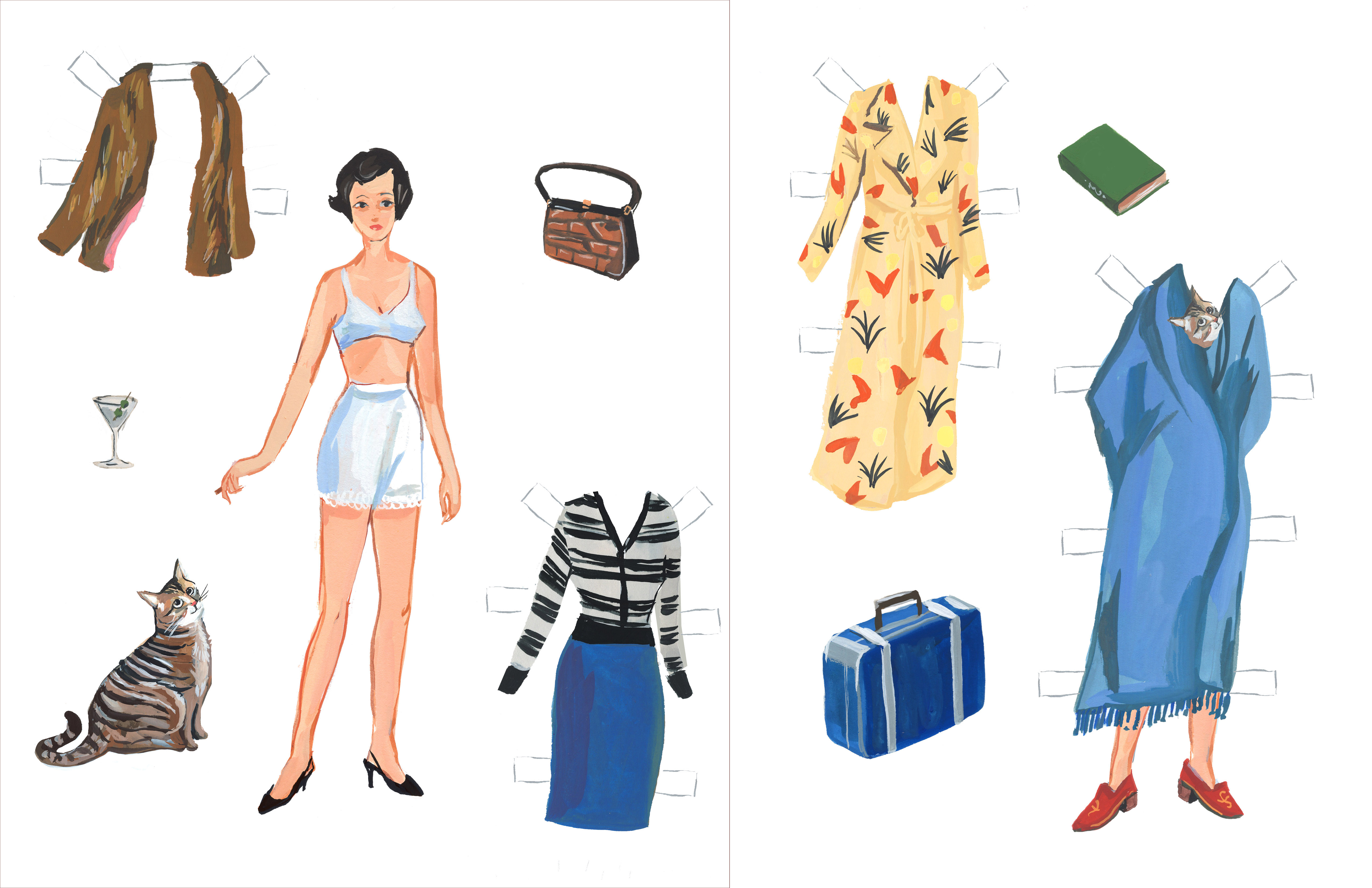 image about Paper Dolls Printable identified as Literary Paper Dolls: Franny