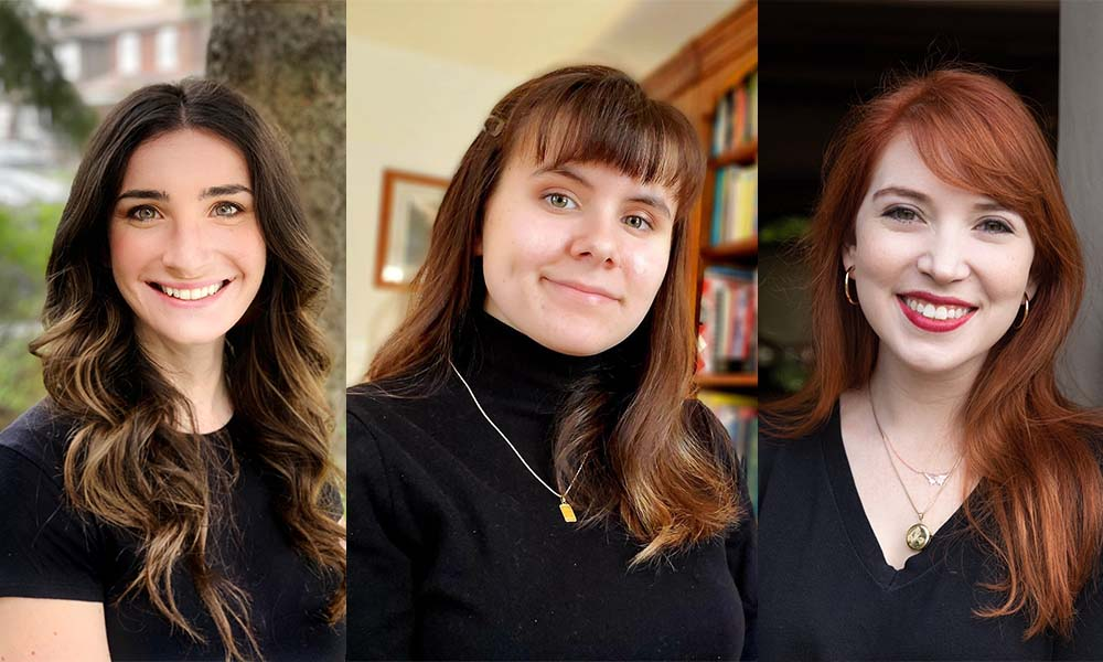 Six Young Women With Prizewinning Book Collections