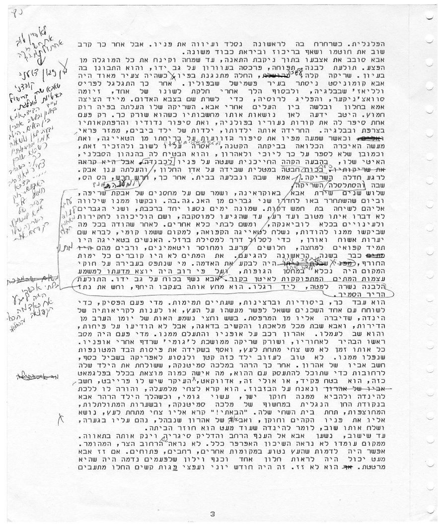 paris review david grossman the art of fiction no 194 view manuscript